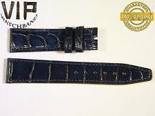NEW OEM Authentic IWC SANTONI strap 18 mm alligator DARK BLUE COLOR