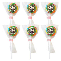 Party Bag Lollies FOOTBALL Fruit Flavour Lollipops x 6 Boys Lolly Pop