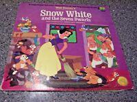"Walt Disney ""Snow White and the Seven Dwarfs"" DISNEYLAND 3906 LP w/BOOKLET"