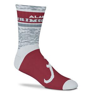 New Alabama Crimson Tide Double Deuce Gray Knit Crew Socks 2 Sizes Available