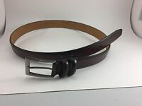 APT. 9 BROWN COATED LEATHER DRESS BELT MENS SIZE 38 IMITATION LEATHER LINING