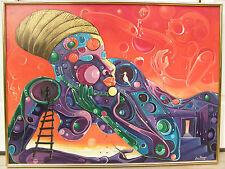 My Native Home 1988 surrealistic nude woman by Miami based Haitian Jude Thegenus