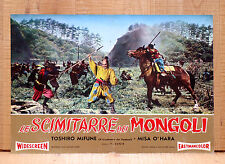 LE SCIMITARRE DEI MONGOLI fotobusta poster Mifune Saga of the Vagabonds AF16