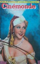 CINEMA YVONNE PRINTEMP MICHELE MORGAN GREGORY PECK GUITRY  N° 800 CINEMONDE 1949