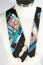 Nicole Miller Vesvio Italian Bakery 100% silk Long Necktie neck tie