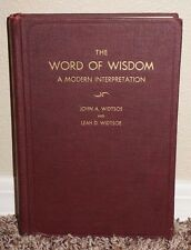 The Word of Wisdom by John A. Widtsoe 1938 Ed. Red LDS Mormon Rare Vintage HB