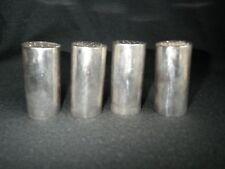 """4 (four) ALLAN ADLER Sterling Salt & Pepper Shakers ~ Mid-Century Modern 2¼"""""""