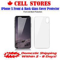 Front & Back Cover HD Tempered Glass Screen Protector for iPhone 7 8 Plus X