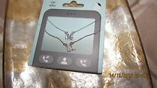 set of 2 coordinating necklaces on gift pack, OMG and LOL pendants