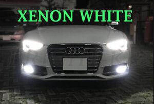For Audi A5 B8 2007+ BRIGHT XENON 6000K WHITE SMD LED Fog Light Bulbs CANBUS