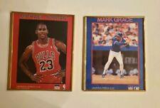 Michael Jordan, Mark Grace 1988 Starline 8x10 Glass Framed Chicago Bulls Cubs