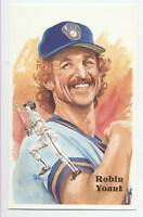 UNSIGNED  PEREZ STEELE POST CARD ROBIN YOUNT- NrMt-Mt from sets and TOUGH!!