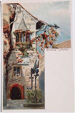29122 Litho Künstler AK Wartburg bei Eisenach Martin Luther-Bau signiert BIESE