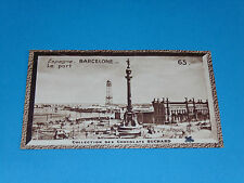 CHROMO PHOTO CHOCOLAT SUCHARD 1934 EUROPE ESPAGNE ESPAÑA BARCELONE BARCELONA