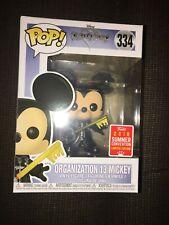 Funko Pop Kingdom Hearts Organization 13 Mickey #334 Unhooded Summer Convention