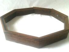 Vintage Oak Picture Frame Shadow Box Oak Octagon Sailor's Valentine