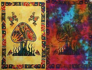 2 piece Mushroom Tapestry Bohomen Indian Wall Hanging Wholesale (77cmX102cm)Ym-1