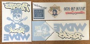 (3) Pittsburgh Pirates Vintage Window Cling Bumper Stickers WDVE WVAM