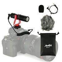 MouKey Video Microphone Mic & Windshield Foam Cover for Nikon/Canon DSLR Camera