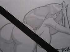 JESSICA RABBIT Roger Girl Sexy Busty Original Sketch Pinup - DaiKon Art
