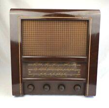 More details for vintage valve radio rare c. 1953 radio rentals model 64 baird bakelite sw mw lw