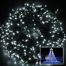 300 LED Cool White Mains Plug In String Fairy Lights Xmas Tree Wedding Decor