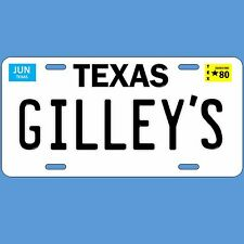 Gilley's night club and bar 1980 Texas License plate