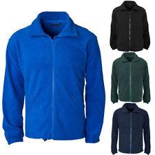 Men's Polyester Collared Fleece Coats & Jackets
