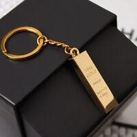 Metall Faux Gold Bar Barren Bullion Schlüsselanhänger SH