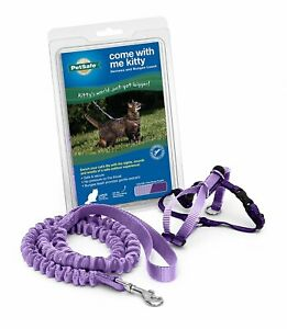 PetSafe COME WITH ME KITTY Cat Harness and Bungee Leash Lilac Large