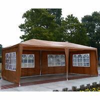 10' x 20' Gazebo Party Tent Patio Canopy Shelter 4 Removable Window Folding w/