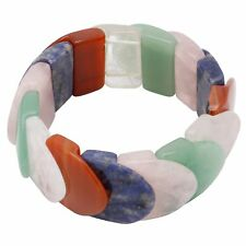 Multicolor Armband aus Bergkristall Achat Karneol Jade Rosenquarz Sodalith