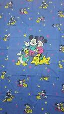 Disney ropa de cama Bedding mickey mouse vintage 80s 90s Fabric Mickey bedlinen