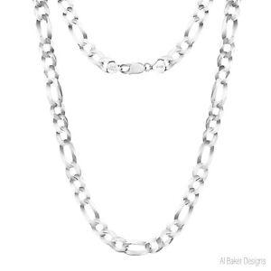 Sterling Silver Figaro Solid Chain Necklace Bracelet 925 Italy Men Women Boys