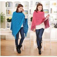 Women's Lady Batwing Top Poncho Knit Cape Cardigan Coat Knitwear Sweater Outwear