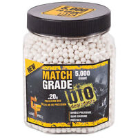Game Face 20GBW5J Match Grade Ammo / Airsoft BBs - 6mm .20 Gram 5000 Count