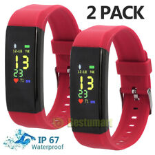2Pack Smart Watch Fitness Tracker Bluetooth Step Caolorie Sport Android iPhone