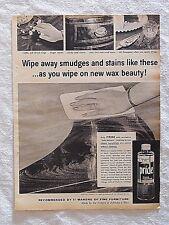 1955 Magazine Advertisement Page Johnson's Wax Pride Furniture Wax Vintage Ad