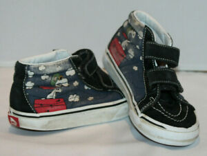 Peanuts Vans Off the Wall kids size 12.5 high top skateboard shoes Snoopy