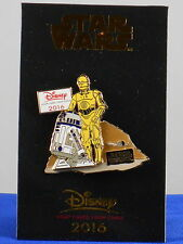 Disney Visa Card Chase Cardmember 2016 Star Wars R2-D2 C-3P0 Trading Pin