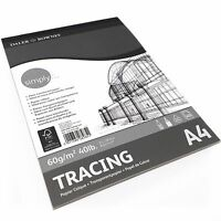 Daler Rowney – Tracing Paper Pad – 60gsm 40 Pages – A4 Portrait – Made in the UK