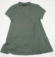 NEW Sample Olivia Sky Ladies A Line V-Neck Blouse Top Green 04219