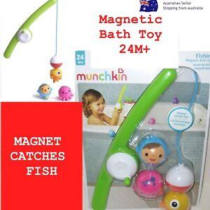 Munchkin Baby Bath Toy Fishin Magnetic Bath Toy Fishing Rod Reel Toddler Bath