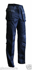 MENS WORK TROUSERS HEAVY DUTY CARGO MULTI POCKETS KNEE PAD POCKETS SIZES W30-W50