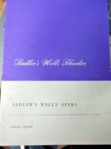SADLER'S WELL OPERA - OWEN BRANNIGAN - ROWLAND JONES  - THEATRE PROGRAMME