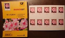 10x Briefmarke 0,05€ = 5 Cent, selbstklebend, postfrisch, neu, Kleinbogen, FB 87