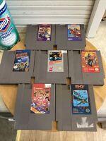 Lot Of 7 Original Nintendo NES Games Metroid Ninja Gaiden Double Dragon Blaster