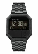 New Nixon Re-Run All Black PVD Digital Unisex Watch A158001