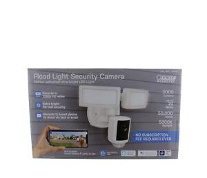 Feit Electric 1355300 LED Dual Head Motion Sensor Floodlight w/ Security Camera