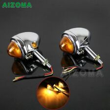 Chrome Motorcycle Bullet Turning Light Turn Signal Indicator For BMW M72 R75 R71